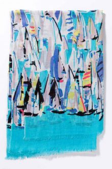 Kinross Cashmere | Spring 2016 | Sail Away Print Scarf