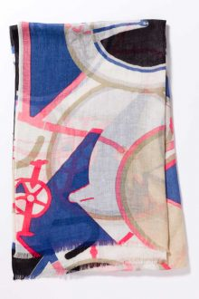 Kinross Cashmere | Spring 2016 | Bicycle Print Scarf