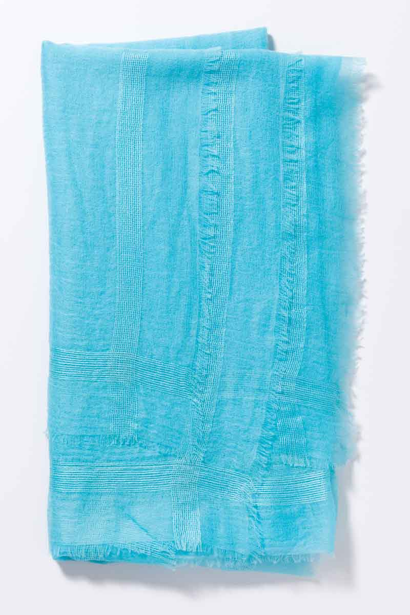 Kinross Cashmere   Spring 2016   Cashmere Scarf with Silk Border
