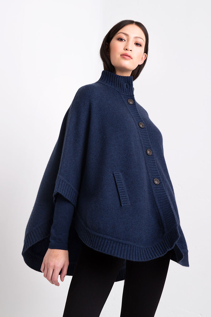 Rounded Cape Kinross Cashmere 100% Cashmere