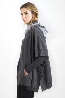Fox Fur Oval Wrap Kinross Cashmere 100% Cashmere