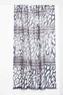 Ombre Animal Print Scarf - Vermillion Multi Kinross Cashmere 100% Cashmere