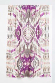 Ikat Print Scarf - Orchid Multi Kinross Cashmere 100% Cashmere