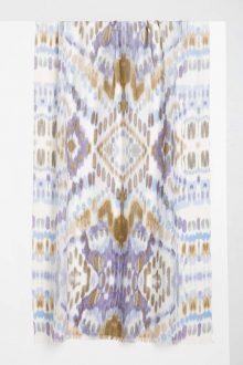 Ikat Print Scarf - Thistle Multi Kinross Cashmere 100% Cashmere