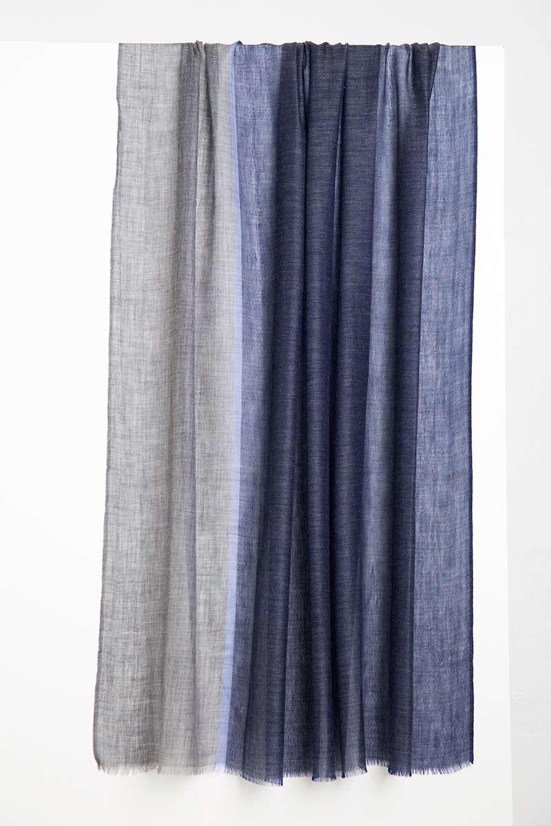 Colorblock Stripe Scarf Kinross Cashmere 100% Cashmere