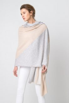 Intarsia Cashmere Travel Wrap