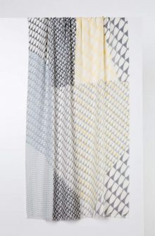 Printed Stripe Scarf - Sterling Kinross Cashmere