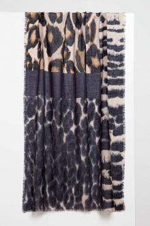 Melange Animal Print Scarf - Kinross Cashmere