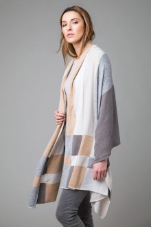 Intarsia Plaid Travel Wrap - Kinross Cashmere