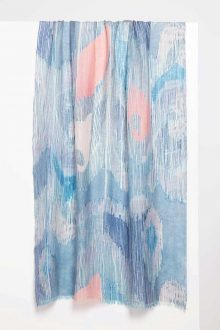 Etched Ikat Print Scarf - Sienna - Kinross Cashmere