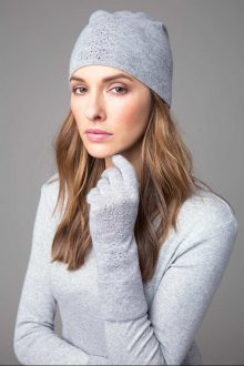 Crystal Gloves & Hat - Kinross Cashmere