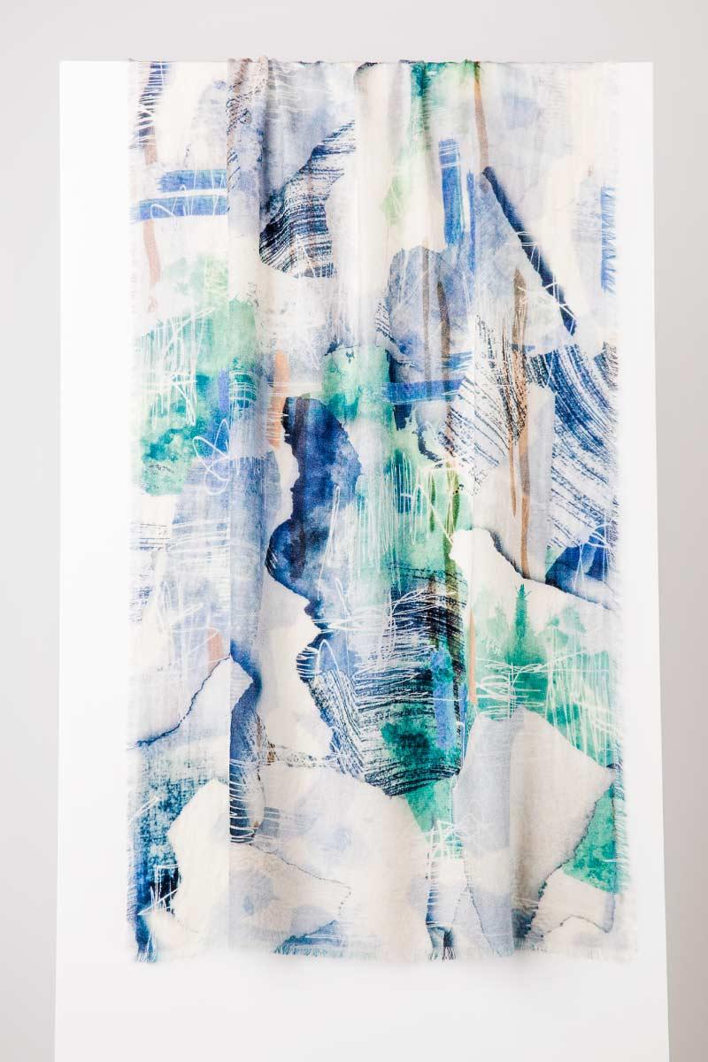 Plein Air Print Scarf - Kinross Cashmere