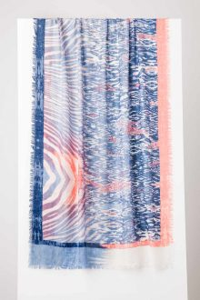 Animal Ikat Print Scarf - Nectar Multi - Kinross Cashmere