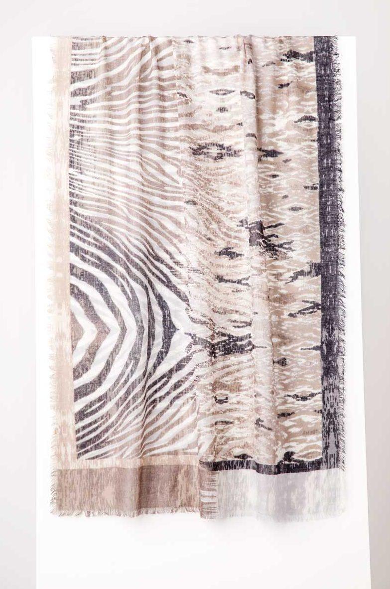 Animal Ikat Print Scarf - Kinross Cashmere