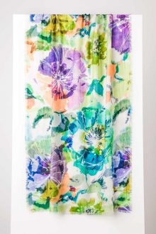 Giverny Floral Print Scarf - Kinross Cashmere