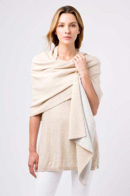 Two Tone Wrap - Kinross Cashmere