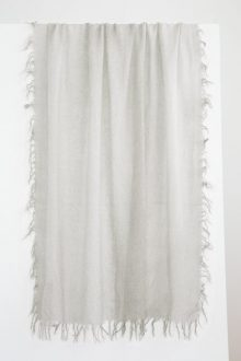 Spray Print Scarf - Silver Mist - Kinross Cashmere