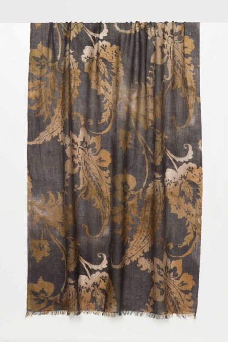 Ombre Paisley Print Scarf - Kinross Cashmere