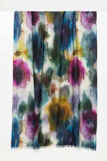 Spice Island Print Scarf - Kinross Cashmere