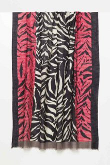 Geo Zebra Print Scarf - Kinross Cashmere