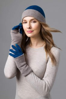Reversible Colorblock Hat and Gloves- Kinross Cashmere