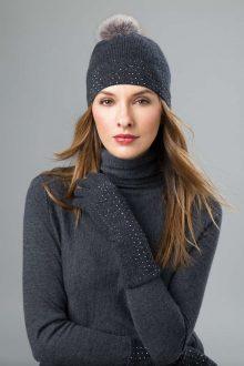 Crystal Hat, Gloves, Scarf - Kinross Cashmere