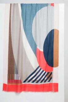 Vernazza Print Scarf - Camellia - Kinross Cashmere