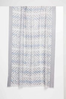 Mediterranean Tile Print Scarf - Grigio - Kinross Cashmere