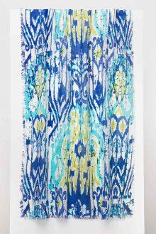 Batikat Print Scarf - Stargaze - Kinross Cashmere