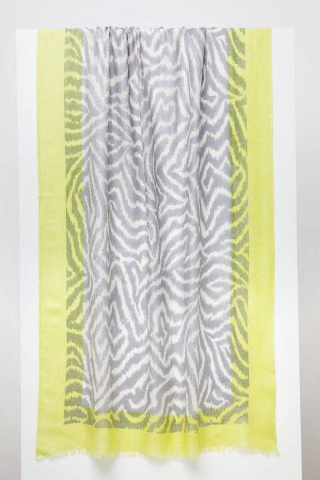 Faux Bois Print Scarf - Seagull