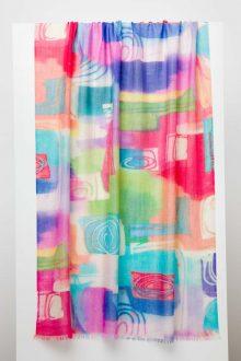 Pop Art Print Scarf - Kinross Cashmere
