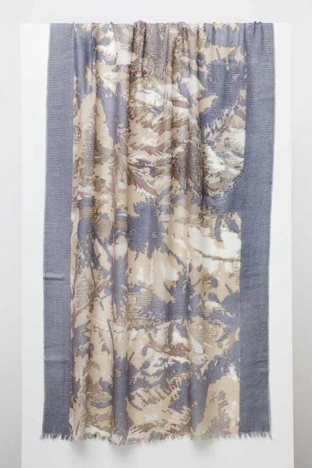 Tropical Camo Print Scarf - Kinross Cashmere