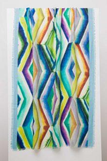 Geo Diamond Print Scarf - Kinross Cashmere