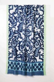 Cali Medallion Print Scarf - Eclipse Multi - Kinross Cashmere
