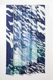 Surf Camp Print Scarf - Eclipse Multi - Kinross Cashmere