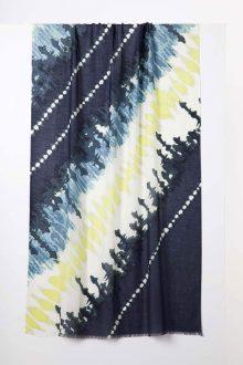 Tie Dye Print Scarf - Eclipse Multi - Kinross Cashmere