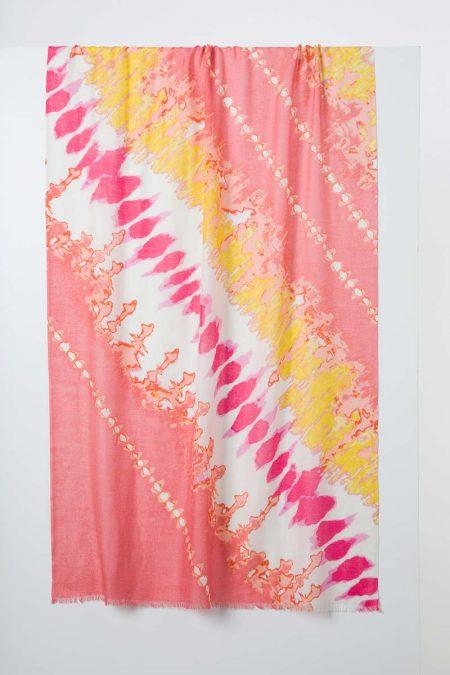 Tie Dye Print Scarf - Paradise Multi - Kinross Cashmere
