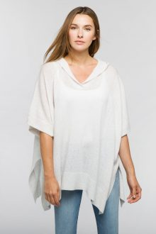 Dropstitch Hooded Poncho - Kinross Cashmere