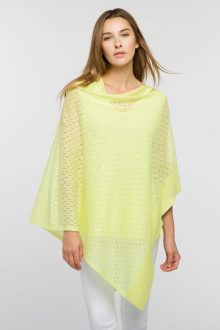 Open Work Poncho - Kinross Cashmere