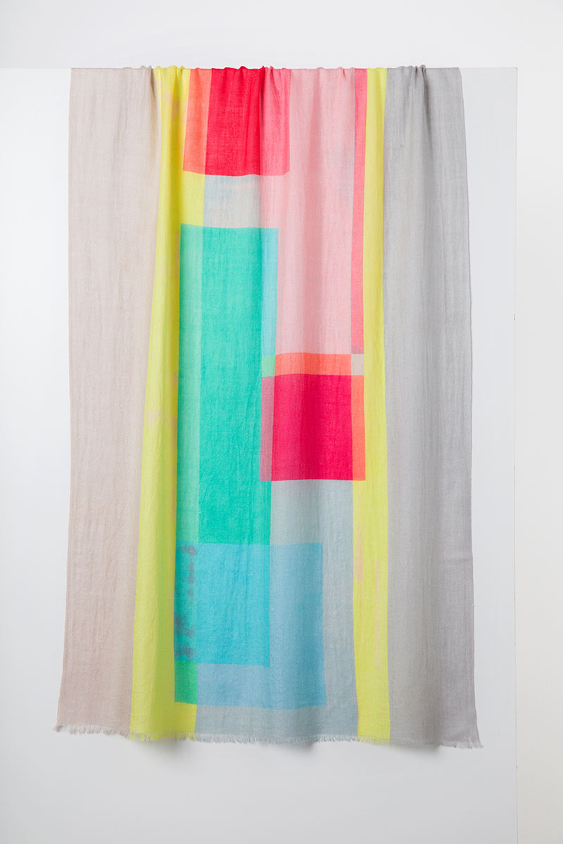 Modern Abstract Print Scarf - Kinross Cashmere