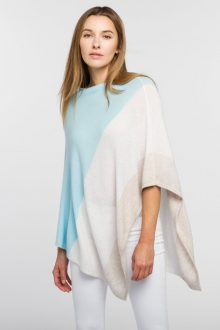 Colorblock Poncho - Kinross Cashmere