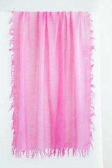 Spray Print Scarf - Fuchsia - Kinross Cashmere