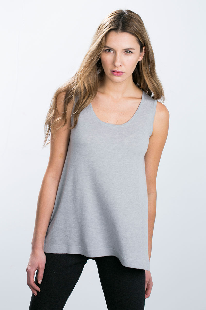 Kinross Cashmere | Worsted Relxed Tank