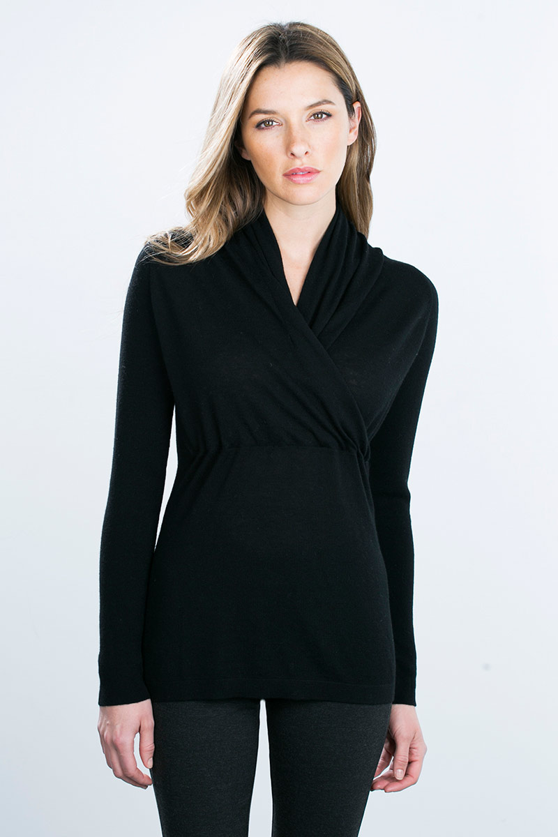 Kinross Cashmere | Worsted Surplice Pullover