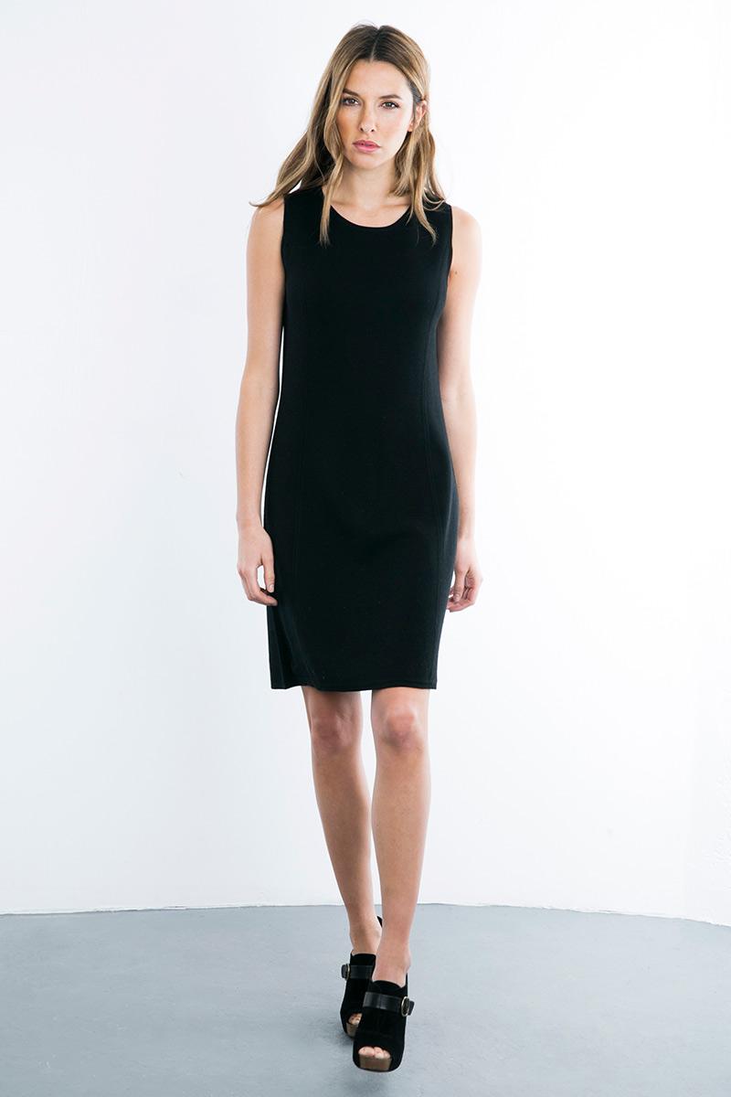 Kinross Cashmere   Double Knit Shift Dress
