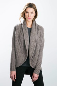 Kinross Cashmere | Mixed Stitch Cardigan