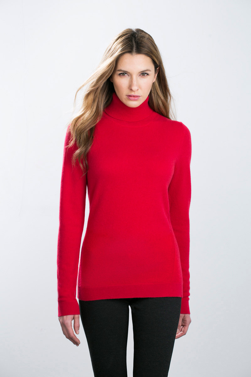 Kinross Cashmere | Long Fitted Turtleneck