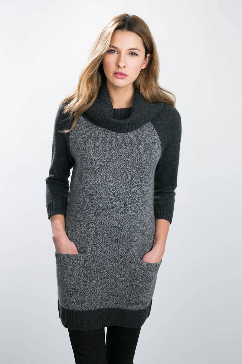 Kinross Cashmere | Tweed Cowl Neck Tunic