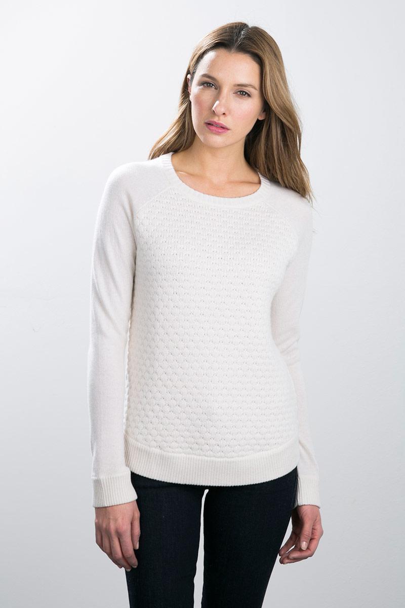 Kinross Cashmere | Popcorn Stitch Pullover