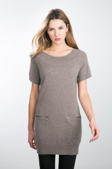 Kinross Cashmere | Raglan Tunic with Zip Pockets